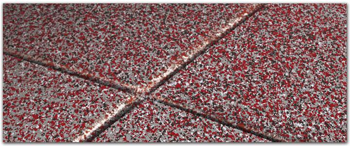 Tech Red Garage Floor Coating Sample Polyaspartic